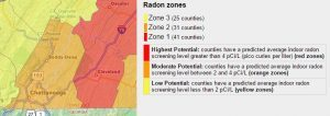 Chattanooga Radon Inspection map